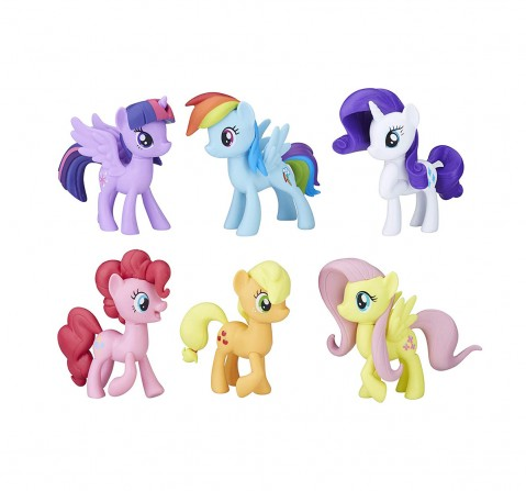 My Little Pony Toys Meet The Mane 6 Ponies Collection Collectible Dolls for Kids age 3Y+