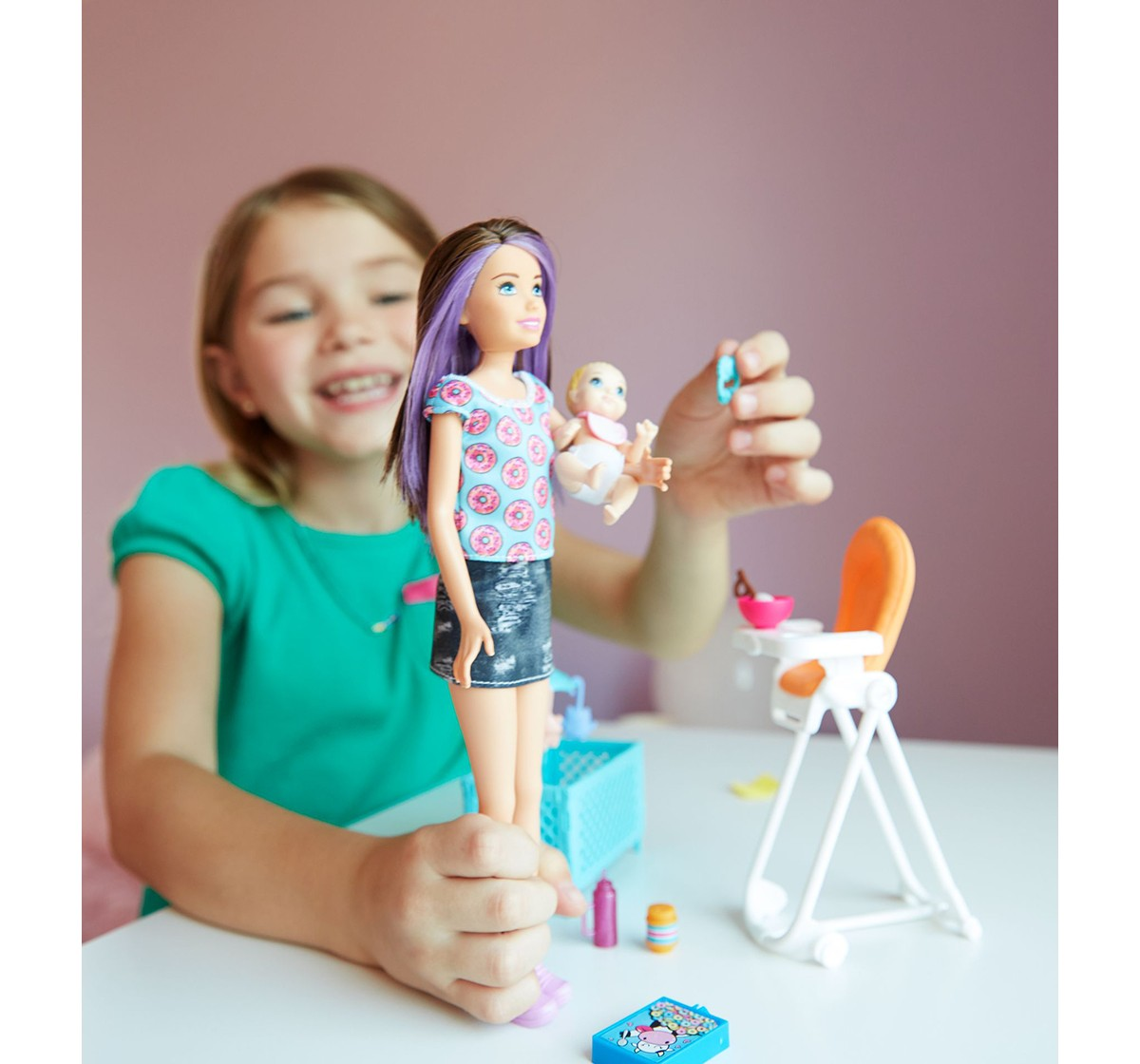 Barbie Skipper Babysitter, Doll and Stroller Set Dolls & Accessories for Girls age 3Y+