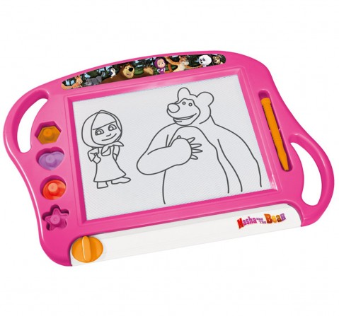 Masha And The Bear Simba 4 Stamps, Magnetic Pen, W:45Cm, Wb Activity Table & Boards for Kids age 3Y+