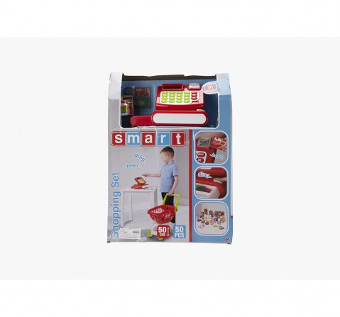 Smart Shopping Set-Red Supermarket & Food Playsets for Girls age 3Y+ (Red)