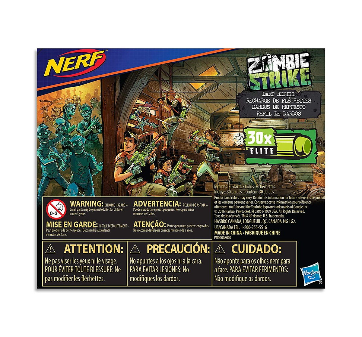 Nerf Official 30 Dart Zombie Strike Refill Pack age 8Y+