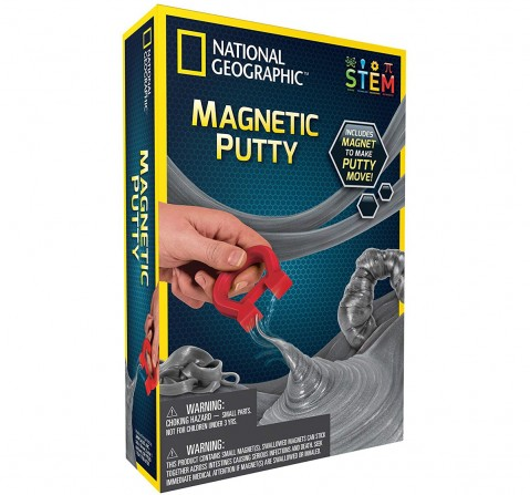 National Geographic Magnetic Putty Science Kit for Kids age 8Y+ (Grey)