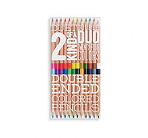 Ooly 2 Of A Kind Coloured Pencils - 24 Colours School Stationery for Kids age 3Y+