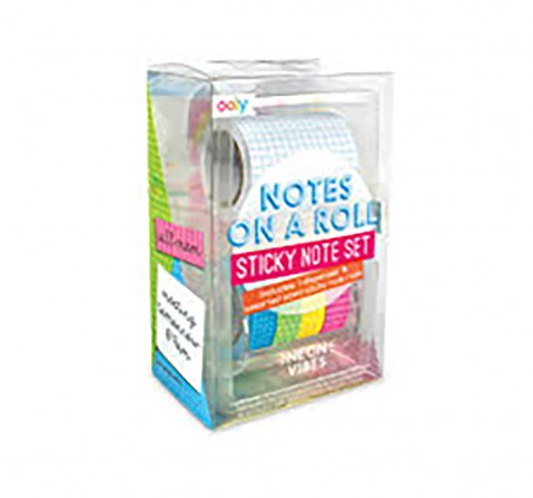 Ooly Notes On A Roll - Neon Vibes School Stationery for Kids age 3Y+
