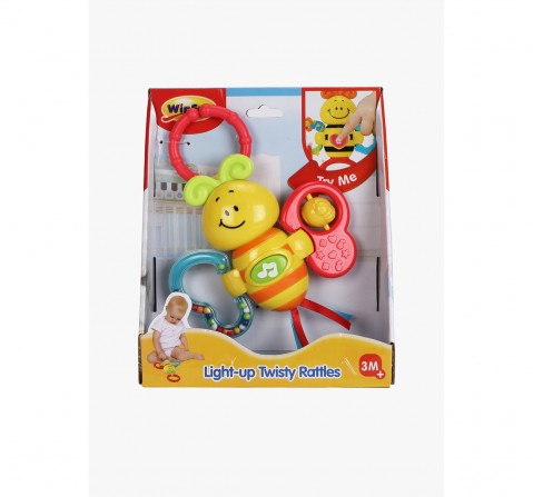 Winfun Light Up Twisty Rattle - Butterfly New Born for Kids age 3M+