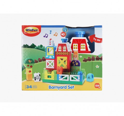 Winfun I-Builder Barnyard Set Learning Toys for Kids age 18M +