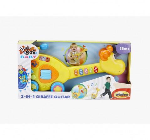Winfun 2 In 1 Giraffe Guitar Musical Toys for Kids age 18M + (Yellow)