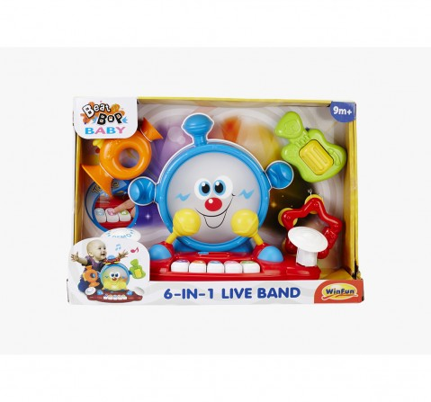 Winfun My First 6 In 1 Music Band Musical Toys for Kids age 9M+