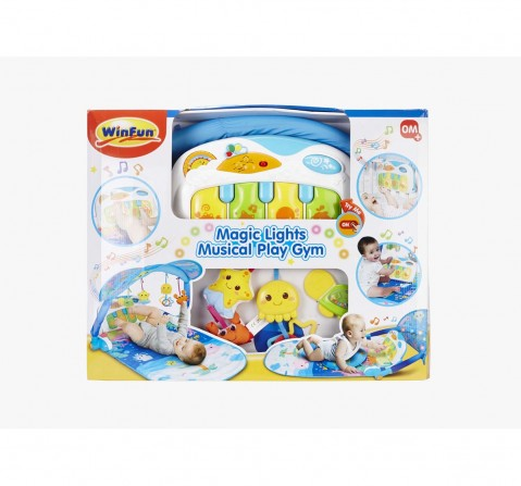Winfun Magic Lights Musical Play Gym - White Baby Gear for Kids age 0M+