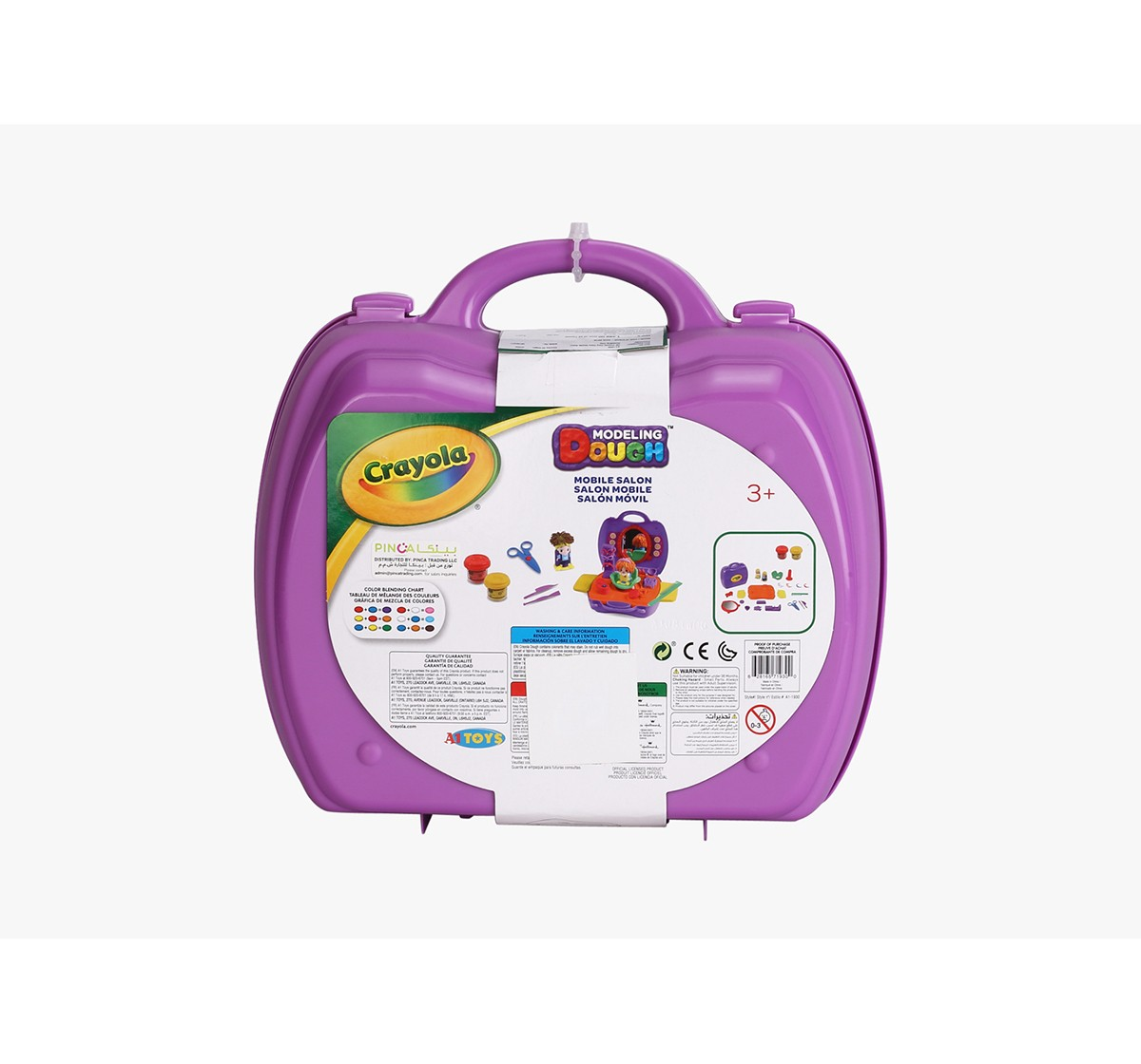 Crayola Carry Case Mobile Salon-Lilac Clay & Dough for Girls age 3Y+