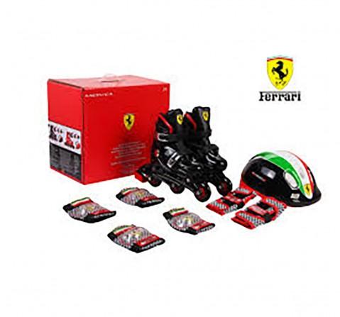 Ferrari Inline Skate Combo Set - M Skates and Skateboards for Kids age 3Y+ (Black)