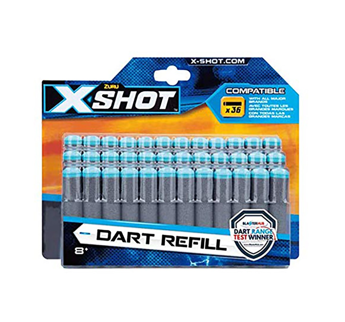 X-Shot 36 Darts Refill Pack Target Games  for Kids age 8Y+ (Grey)