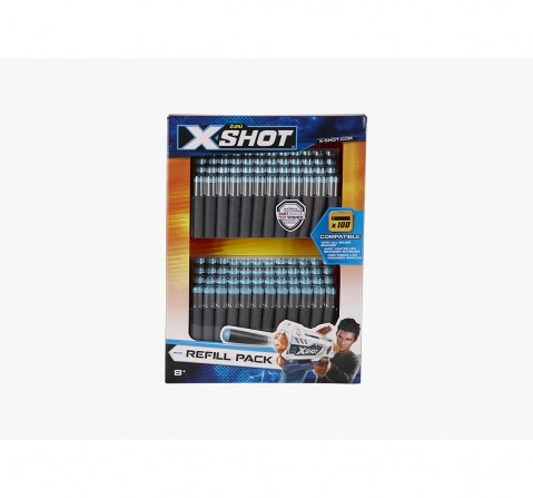 X-Shot 100 Darts Refill Pack Target Games  for Kids age 8Y+ (Grey)