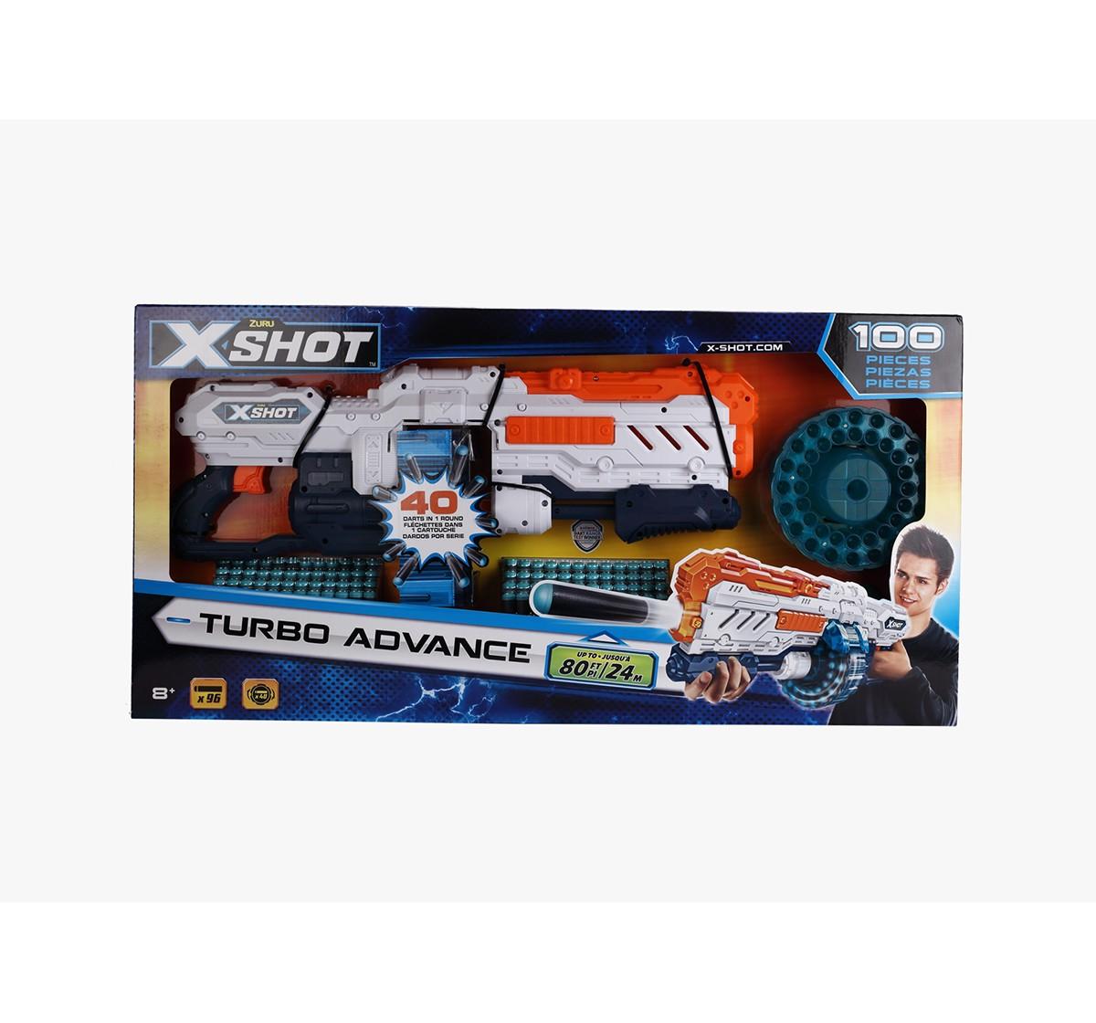 X-Shot Excel Turbo Advance 40-Capacity Barrel Dart Blasters for Kids age 8Y+