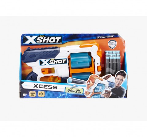 X-Shot Excel Plastic Xcess Tk 12 Blasters for Kids age 8Y+