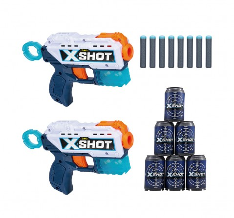 Zuru X-Shot- Excel-Double Pulse (8Dart 6Cans) Blasters for Kids age 8Y+