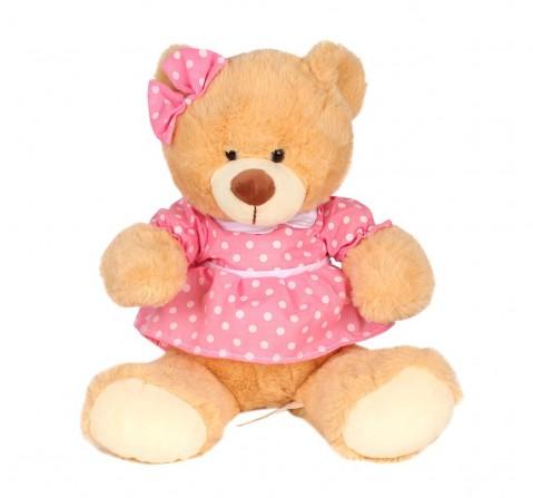 Cuddles Polka Dress Teddy Bear for Kids age 0M+ 27 Cm