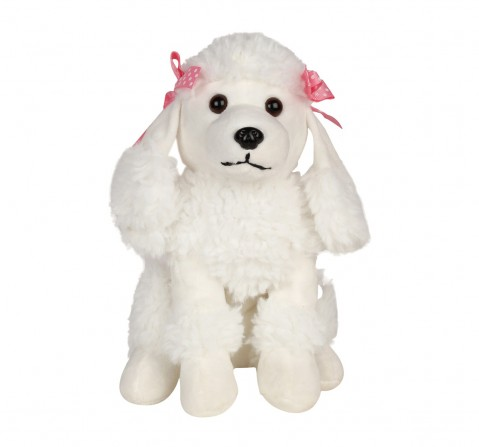 Cuddles Poodle Dog 6 Cms Plush Toy for New Born Kids age 0M+ (White)