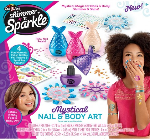 Cra-Z-Art Cra-Z-Art Shimmer And Sparkle Mystical Nail And Body  DIY  & Craft Kits for Kids age 3Y+