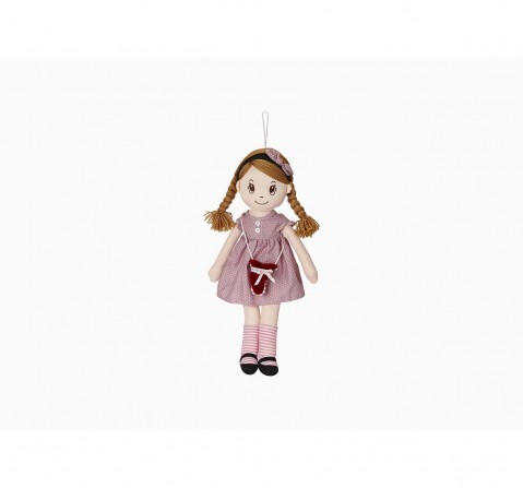 Candy Dolls Plaited Dress With Small Sling Bag & Puppets for Girls age 3Y+ - 11.1 Cm (Pink)