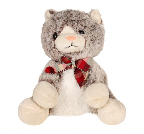 Sophie 24Cms Cat In Dual Colour Quirky Soft Toys for Kids age 3Y+ - 24 Cm