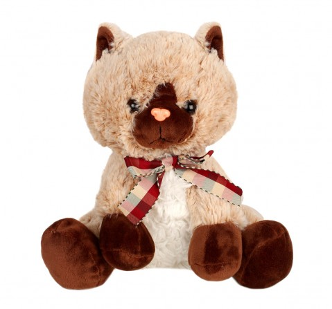 Sophie Brown Cat Plush Toy, 24Cm  Quirky Soft Toys for Kids age 3Y+ - 24 Cm (Brown)
