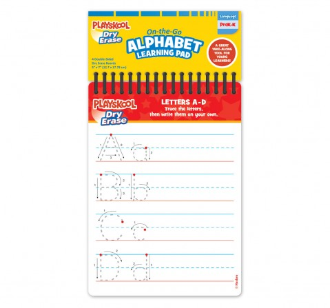 Playskool Dry And Erase On The Go Learning Pad, Unisex, 3Y+ (Multicolor)