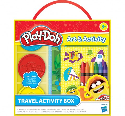 Play-Doh  Travel Activity Box, Multi Color School Stationery for Kids age 3Y+