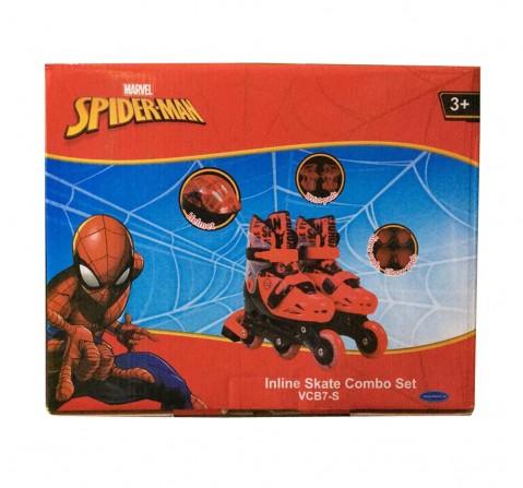 Disney Spiderman Inline Skate Combo Set (Skates and Skateboards) for Kids age 3Y+