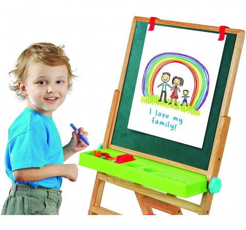 Giggles My First New Easel - Brown Activity Table & Boards for Kids age 3Y+ (Brown)