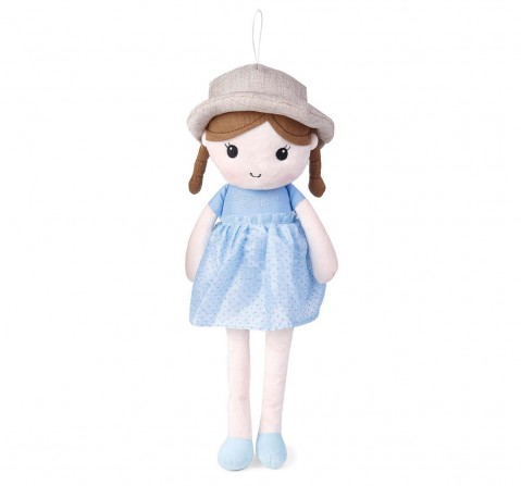 Excel Production My Baby Excel Plush Doll Blue Floral Print With Hat 30 Cm Dolls & Puppets for Girls Age 1Y+ - 30 Cm (Blue)