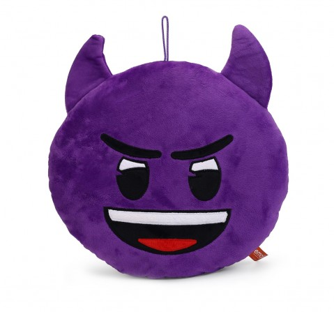 My Baby Excel Emoji  Devil Face 30 Cm Plush Accessories for Kids age 1Y+ (Purple)