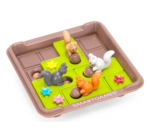 Smart Games Plastic Squirrels Go Nuts (Multicolour) for Kids age 6Y+