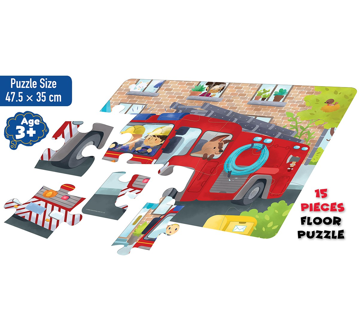 Frank Fire Engine Floor Puzzle for Kids age 3Y+