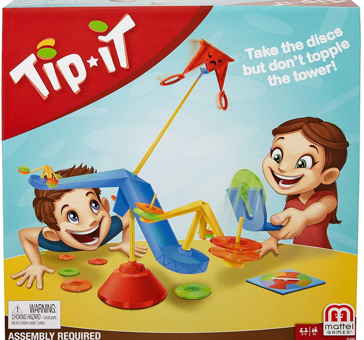 Mattel Games Tip It-2-4 Players Games for Kids age 5Y+