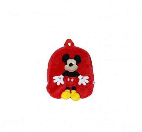 Disney Happiness Unisex Minnie Backpack_Pink_Free Size Plush Accessories for Kids age 12M+ - 30.48 Cm