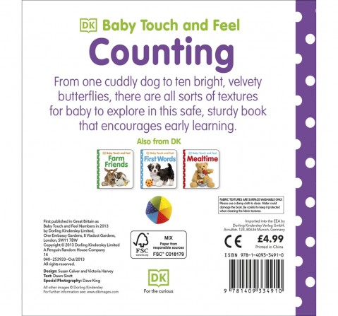 Baby Touch and Feel Numbers, 208 Pages Book by DK Children, Hardback