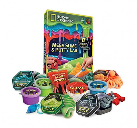 National Geographic Mega Slime and Putty Lab Science Kit for Kids age 8Y+
