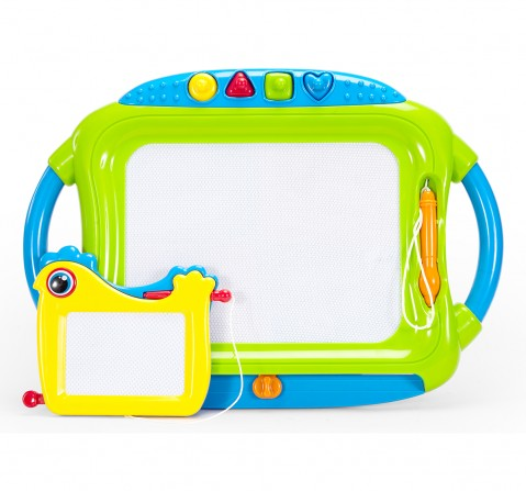Comdaq First Classroom Doodle Board 2 In 1 with Stamp Activity for Kids age 3Y+ (Green)