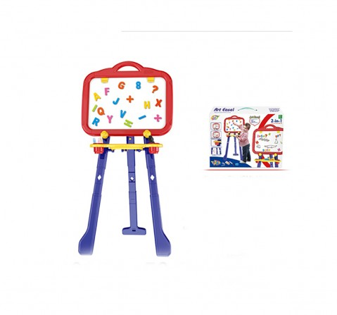 Comdaq Blue & Yellow Easel Board Activity Set for Kids age 3Y+