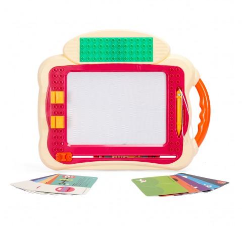 Comdaq Big Doodle Board Blocks Activity Set for Kids age 3Y+ (Red)