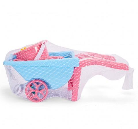 Comdaq Beach Set with Bucket and Wheelbarrow Outdoor Leisure for Kids age 3Y+