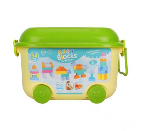 Comdaq 54 Pcs Toddler Soft Blocks for Kids age 12M+