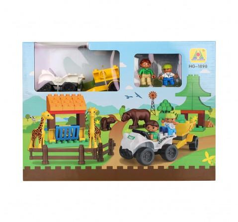 Comdaq 43 Pcs Safari Blocks for Kids age 12M+