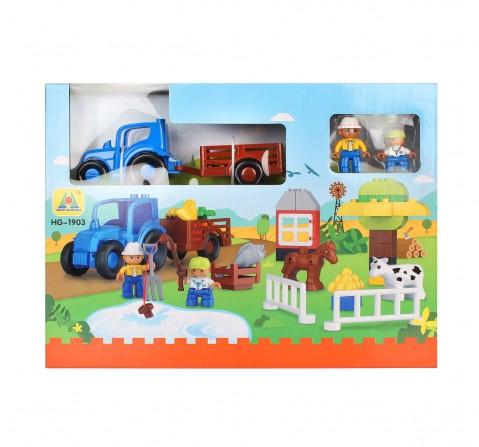 Comdaq Farm 42 Pcs Toddler Blocks for Kids age 3Y+