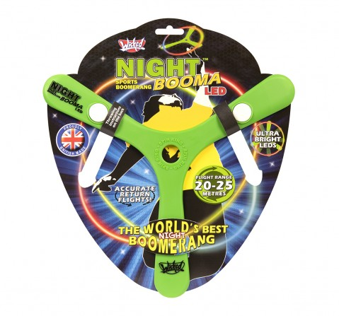 Wicked Night Sports Boomerang Led- Impulse Toys for Kids age 5Y+ (Green)