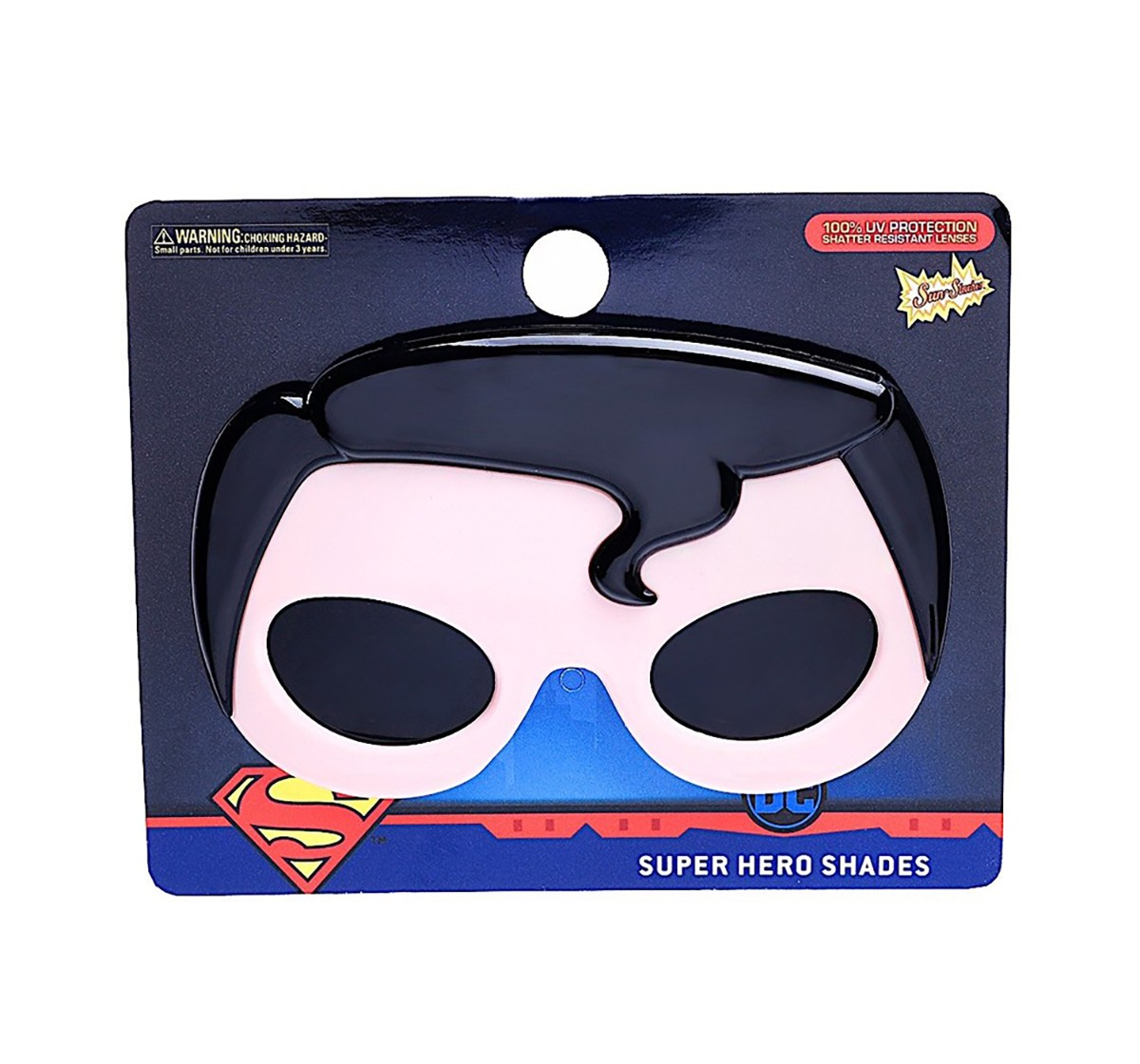 Dc Sunstaches Superman Sunglasses Shades Novelty Character Novelty for Kids age 12M+