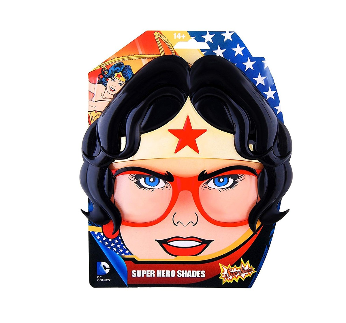 Dc Sun Staches Star Wonder Woman Sunstaches Novelty for Girls age 3Y+