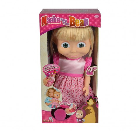Masha And The Bear - Tickle Me Funcional - 36Cms Pink Dolls & Accessories for Girls age 3Y+