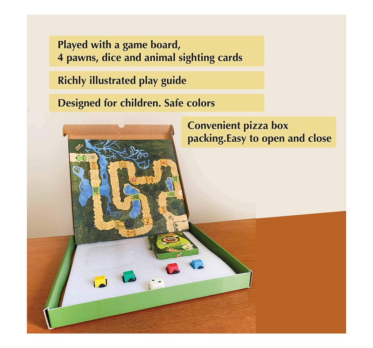 Kaadoo Nilgiri Biosphere-Jungle Safari Board Game for Kids age 4Y+